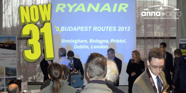 Ryanair Budapest Routes 2012