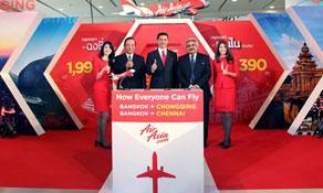 Thai AirAsia adds Chennai and Chongqing from Bangkok