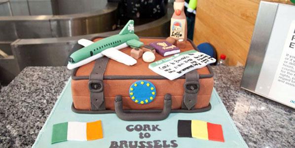 Cake 1: Aer Lingus' Cork to Brussels