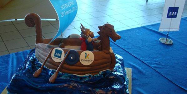 Cake 17: SAS' Katowice to Copenhagen