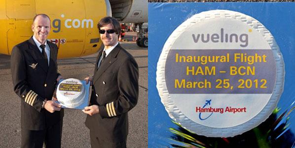 Cake 20: Vueling's Hamburg to Barcelona