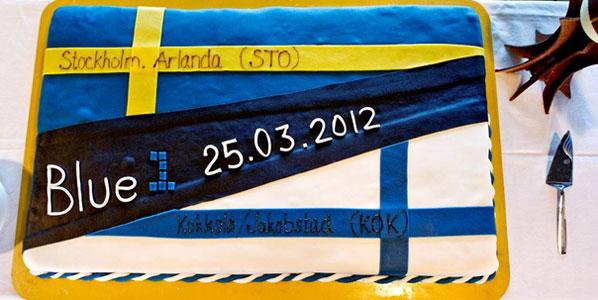 Cake 5: Blue1's Kokkola to Stockholm Arlanda