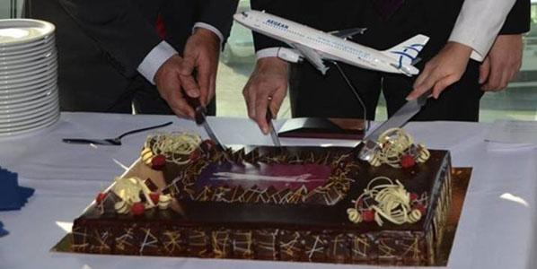 Cake 1: Aegean's Brussels to Heraklion