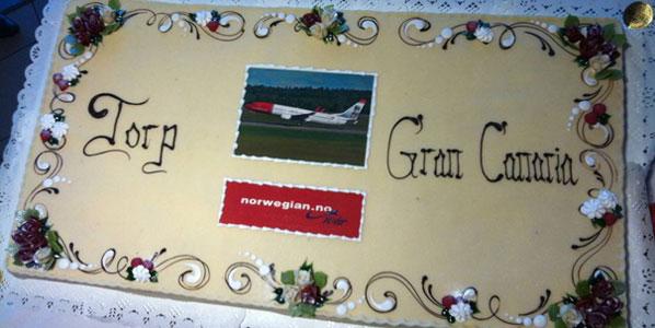 Cake 13: Norwegian's Oslo Torp to Gran Canaria