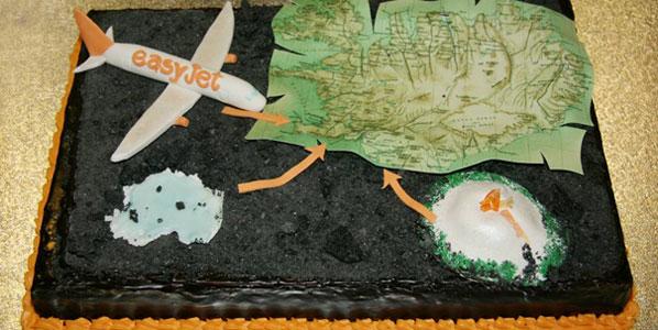 Cake 4: easyJet's Reykjavik to London Luton