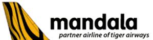 Mandala, partner airline of tiger airways