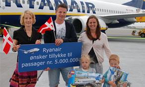 Ryanair celebrates in Denmark and Baltics; Vueling welcomes 50-millionth passenger; Memmingen turns five