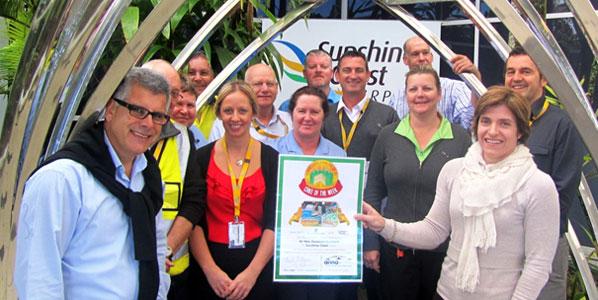 "Queensland's Sunshine Coast Airport celebrates winning anna.aero's ""Cake of the Week"""
