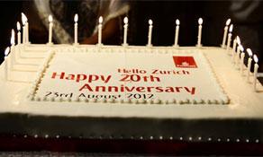 20 years of Emirates in Zurich; two million Ryanair passengers in Memmingen; Cargolux brings 747-8F to EuroAirport
