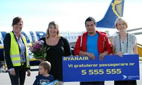 Ryanair celebrates milestones at Haugesund and Gothenburg City airports
