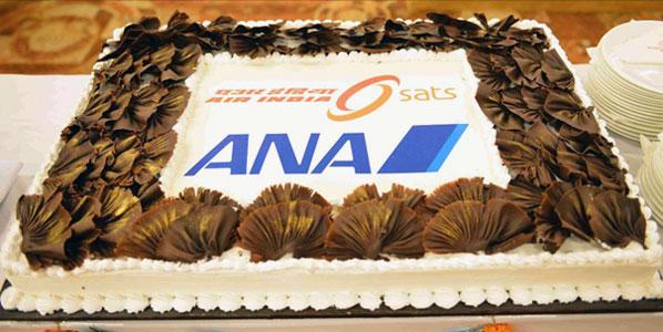Cake of the Week Vote: Cake 3 ANA's Tokyo Narita to Delhi