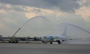 Aruba-based Tiara Air inaugurated flights to its first US destination