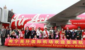 AirAsia connects Kuala Lumpur and Nanning