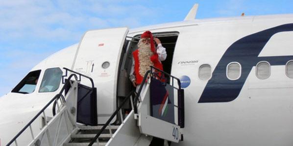 Santa Claus arrived in Budapest on Finnair's flight from Helsinki last week.