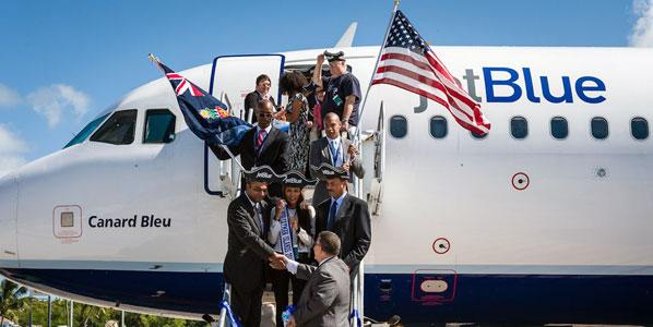 jetBlue's JFK to Grand Cayman last month