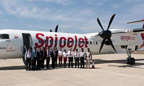 Memmingen/Allgäu celebrates four million passengers; SpiceJet shares its Mysore cake