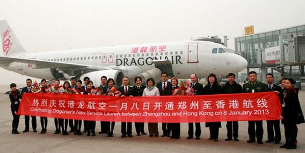 Dragonair connects Hong Kong with Yangon and adds Zhengzhou service