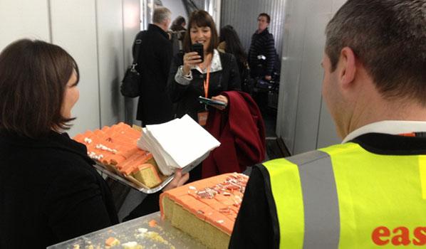easyJet cake for passengers