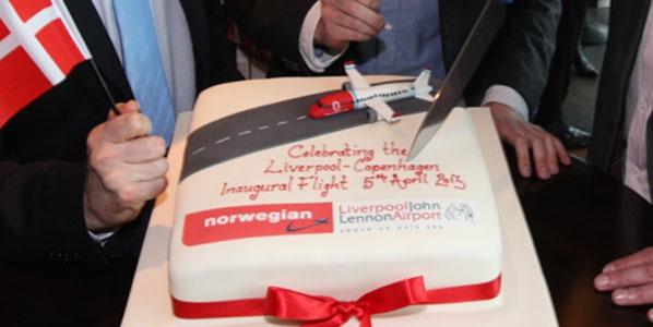 Norwegian Liverpool to Copenhagen cake