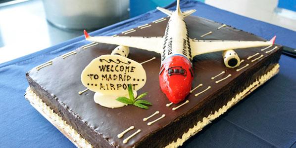 Norwegian Madrid to Copenhagen cake