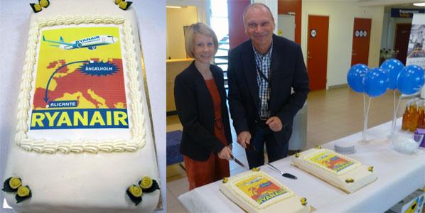 Ryanair Alicante to Angelholm cake