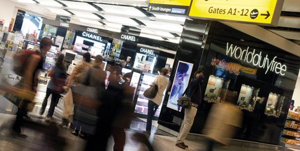Duty free shopping at Heathrow Airport