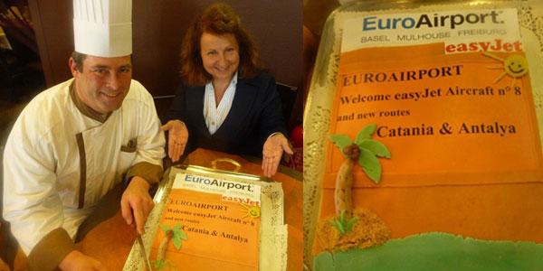 Cake 16 easyJet Basel to Catania & Antalya