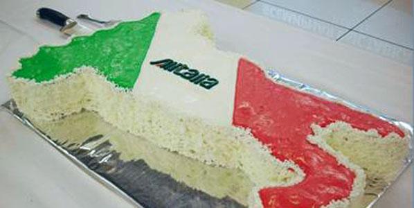 Alitalia Rome Fiumicino to Ekaterinburg cake.