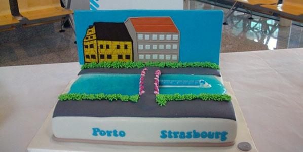 Ryanair Porto to Strasbourg cake.