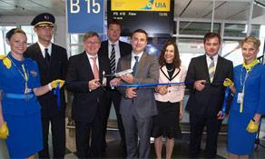 Ukraine International Airlines arrives in Munich