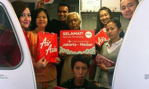 Indonesia AirAsia returns on Jakarta - Medan route