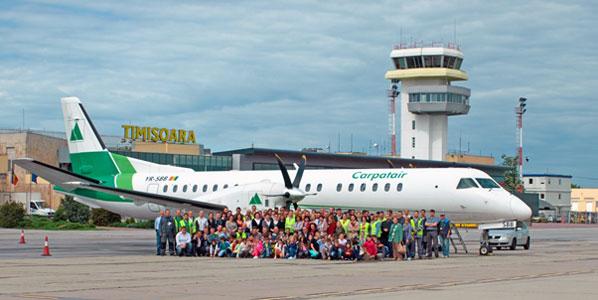The last Saab 2000 leaving Carpatair last week