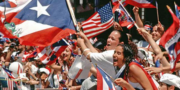 Inhabitants of Puerto Rico celebrating Constitution Day.