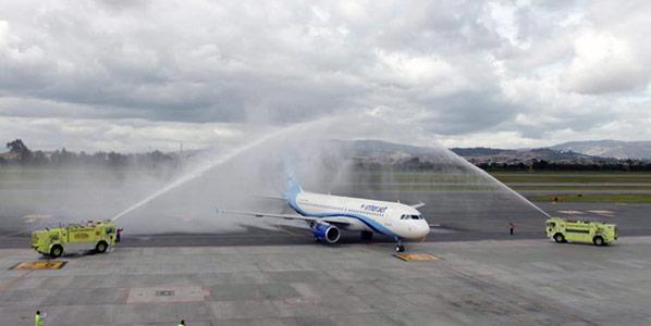 Bogota welcoming Interjet's arrival