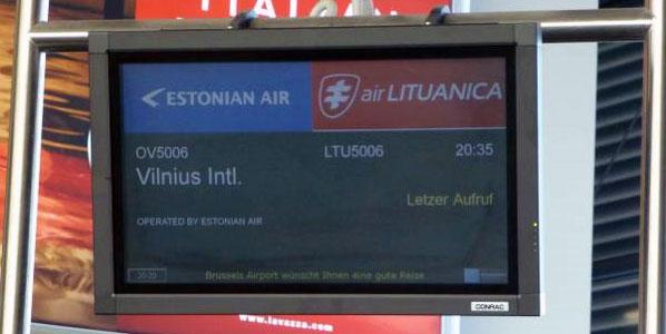 Flight LTU5006 to Vilnius