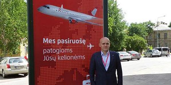 The airline's CCO Simonas Bartkus