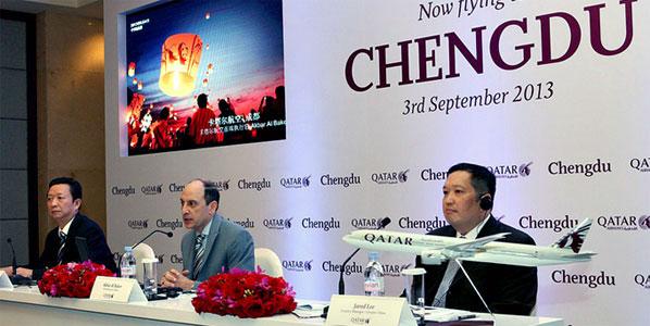 Qatar Airways opens Chengdu – its sixth destination in China.