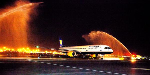 Icelandair's maiden arrival In New York Newark