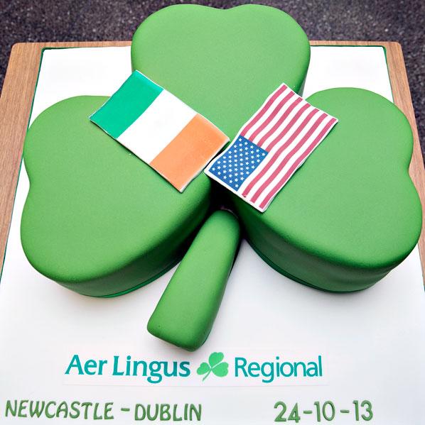 Cake 7 - Aer Lingurs Regional Newcastle to Dublin