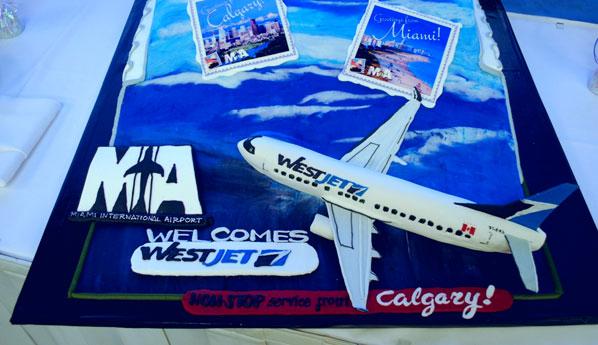 Cake 8 - WestJet Miami to Calgary