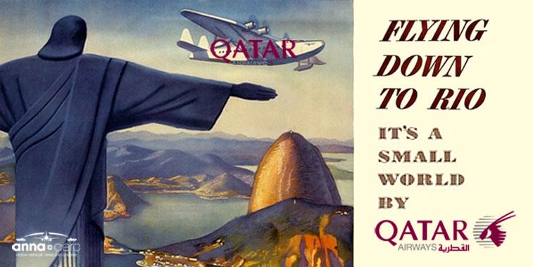 Qatar Airways flying down to Rio