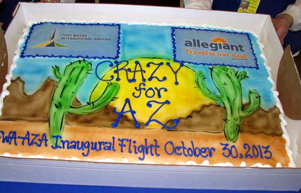 Cake of the Week Vote: Cake 7 - Allegiant Air's Fort Wayne to Phoenix-Mesa