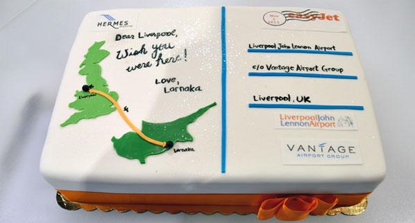 Cake of the Week Vote: Cake 9 - easyJet's Liverpool to Larnaca