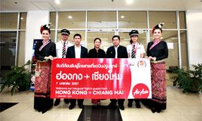 Thai AirAsia launches third route to Hong Kong from Thailand