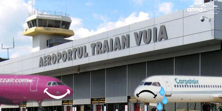 Timisoara Airport loses Carpatair; Wizz Air is new market leader