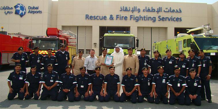 Dubai Al Maktoum fire crews