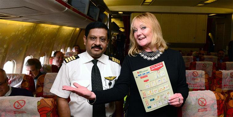 Passengers aboard the last flight included BBC radio DJ Janice Long.