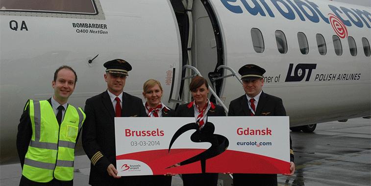 Gdańsk - Brussels Route