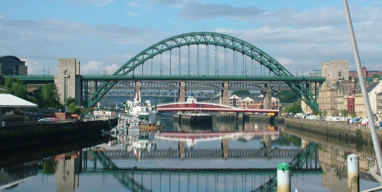 The Newcastle Tyne Bridge.