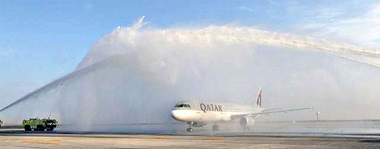 The FTWA for Qatar Airways' Doha to Dubai Al Maktoum on 1 March.